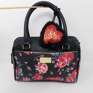Betsey Johnson bag hand/crossbody rose pattern